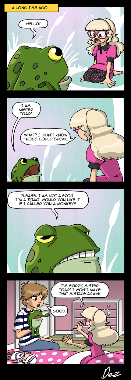 This comic either comes out of the left field, or explains a great deal about Flore and Frivolesque as a whole...