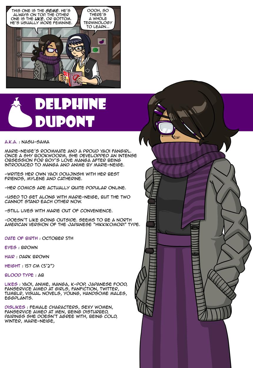 Delphine needs love too.
