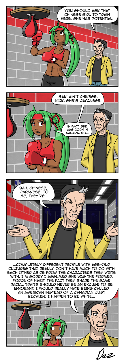 """'I guess she'd be more into Kung Fu than boxing..."""""""