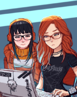 Clementine and [Michele] by Oshi Rockingham