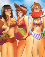 Beach Time by Nero Art