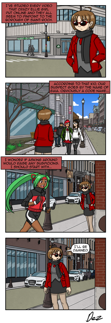 Quebec City is the city of random encounters.
